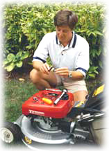 Man with mower